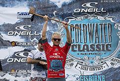 Адам Меллинг побеждает в новозеландском ASP 6-Star O'Neill Cold Water Classic