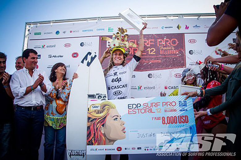 Жюстин Дюпон победила в EDP Surf Pro Estoril 2012