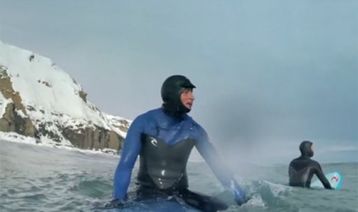 Surf in Siberia Winter 1