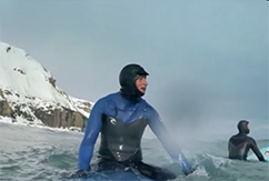 Surf in Siberia Winter 1