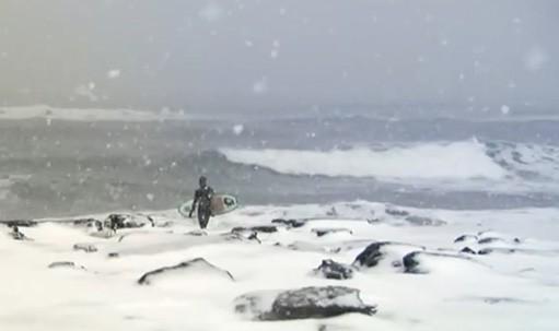 Зимний серфинг на Камчатке
