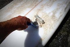 Как снимать воск с серф-борда