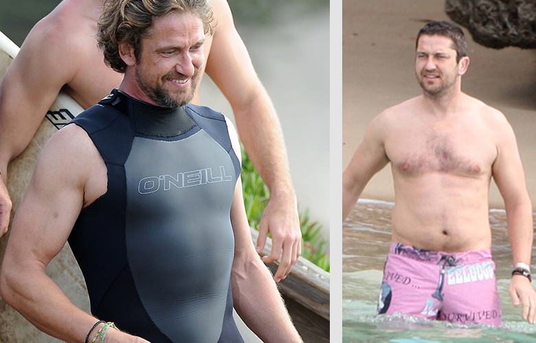 Джерард Батлер - звезда мирового кино до и после съемок фильма про серфинг.