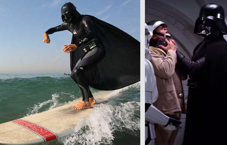Даже самым темным серфинг помогает  перейти на Светлую сторону силы ))