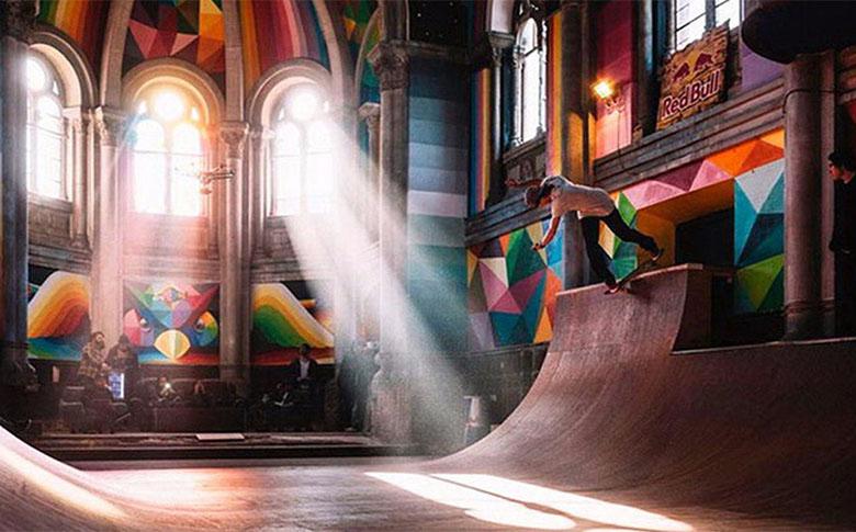 Скейт-парк в церкви