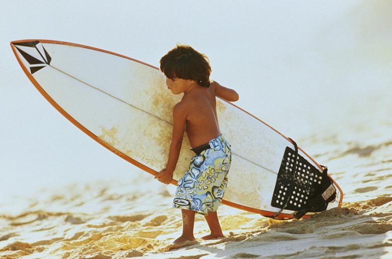 Как научить детей сёрфить