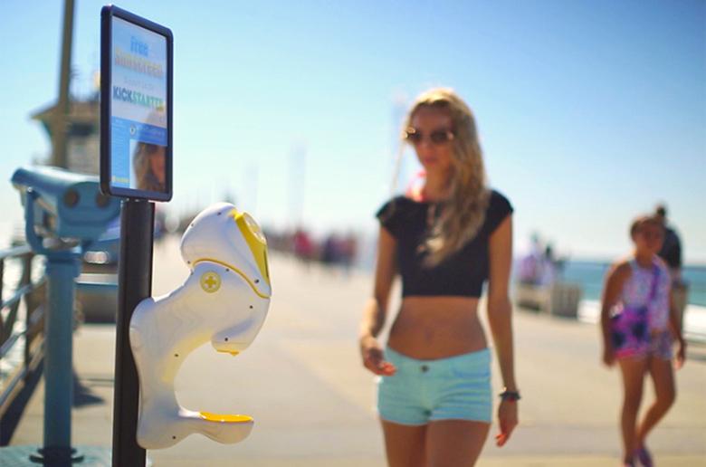 Sun Shield – новаторский диспенсер крема для общественного пользования