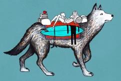 Сказочные серф-путешествия животных от  Джонаса Клаессона